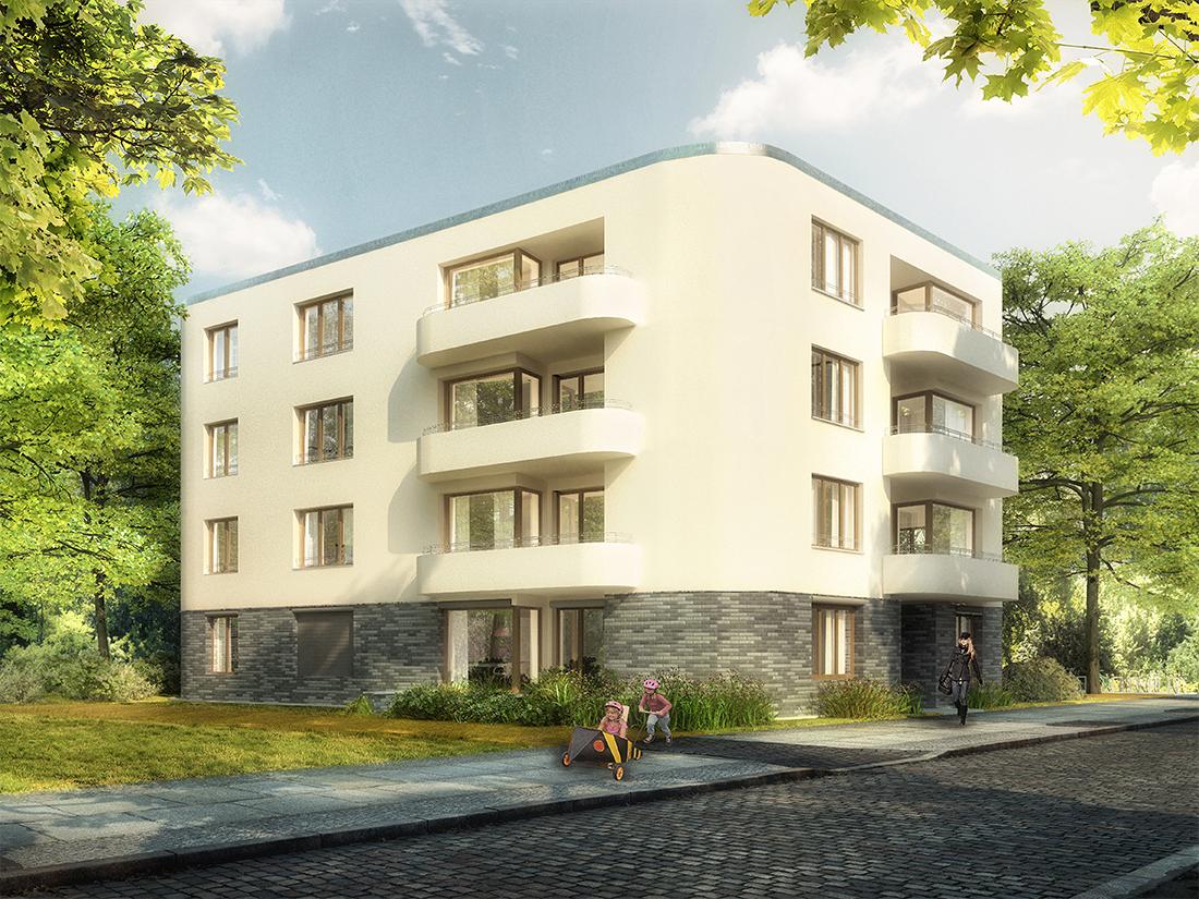 Wernecke + Jahn Architekten, Visualisierung Wohnungsbau Neubau, Berlin Waldowstraße 2